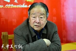 著名书法家况瑞峰做客天津美术网访谈