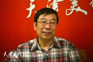 视频:著名画家时景林做客天津美术网