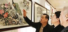 高清图:尹玉璞画展在华侨书画院开展 60余幅精品力作亮相