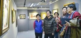 南开区迎新春2017美术作品展在群众艺术馆开幕