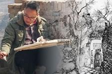 组图:天津青年山水画家何宁山西晋中写生作品欣赏
