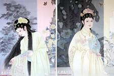 """组图:津门青年女画家于栋华的""""金陵十二钗"""""""