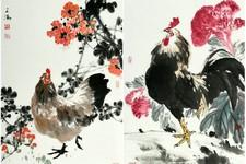 取像求真-天津著名画家陈之海小写意画鸡作品欣赏