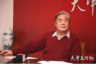 视频:著名书画家陈连羲做客天津美术网