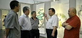 高清图:著名画家王其华中国画画展在天津图书馆开幕
