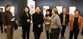 高清图:文化协同 共画发展-京津冀美术名家邀请展在天津美术馆开幕
