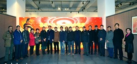 天津知名书画家优秀作品展在智慧山艺术展览中心开幕