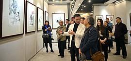 凤舞祥语-陈之海中国画作品展在天津图书大厦开展
