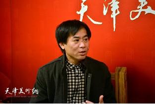 视频:著名画家肖培金做客天津美术网