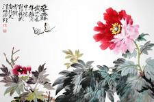 张锡武花鸟新作—名花倾国人相欢 明年开更胜今年