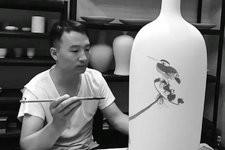 天津青年画家陈丙利青花瓷艺术欣赏