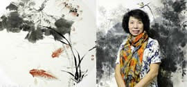 高清图:境由心造-万博manbetx安卓版女画家吕爱茹花鸟画作品欣赏