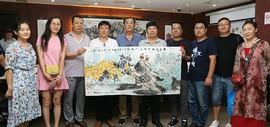 今晚书画家艺术交流中心成立三周年暨嘉信首届旅游文化节举行