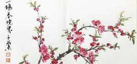 三春红雨惹莺愁 蝶梦穿花随水向东流 | 刘存发咏桃花词 王冠惠绘画