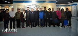 天津水利书画院成立十周年书画作品展在河西区文化中心开展