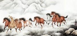 高清图:驰雪追风新画境——李澜谈雪景鞍马题材创作