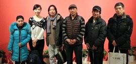 高清图:天津河西区文化馆组织画家赴京参观全国美展