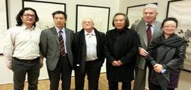 高清图:天津著名画家霍春阳精品展亮相巴黎卢浮宫