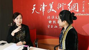 著名女画家李悦做客天津美术网