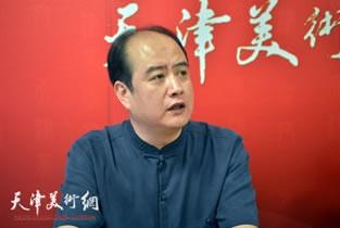 视频:著名书法家刘啸做客天津美术网