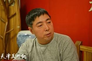 视频:著名画家卢东昇做客天津美术网