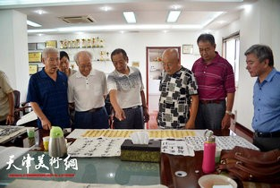 视频:天津部分回族书画名家走进天穆书画联谊