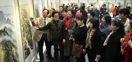高清图:钟灵豫秀·曲学真、刘家城中原山水写生展在天津图书馆举行