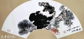 小扇清风扑面来 天津著名画家陈之海扇面作品欣赏