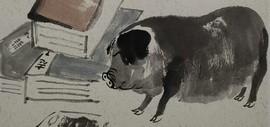 """天津著名畫家肖培金""""己亥畫豬"""":捕捉自然與生活中的憨態可掬"""