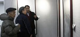 高清图:墨彩流泉中国画展举行 70余幅精品力作亮相天津图书馆