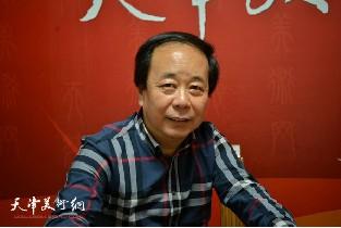 视频:著名书法家赵寅做客天津美术网