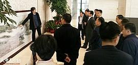 天津美院路洪明教授巨幅力作描绘鹊山愿景 文化助力临朐乡村振兴建设