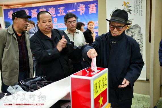 河西区文化局党委书记孟华致辞并宣布画展开幕