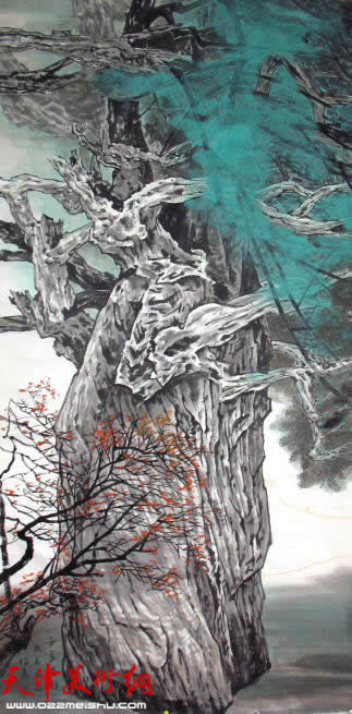 画家柴博森做客天津美术网访谈