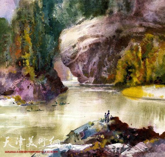 还有吴冠中的水彩画《苏州园林》