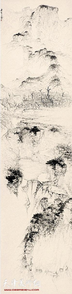 杜月涛 太行郭亮 249×62cm 2010年