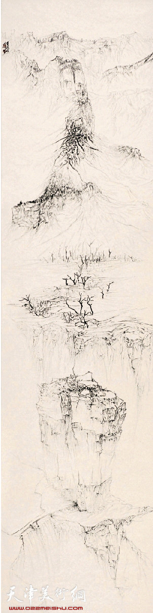 杜月涛 太行山上 249×62cm 2012年