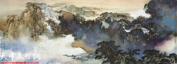 陈刚山水画作品