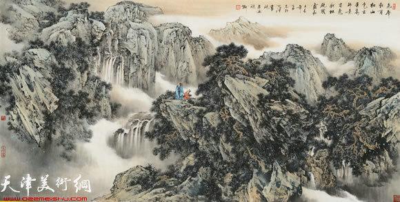 陈钢山水画作品;; 著名画家陈钢:从写生到创作是一个
