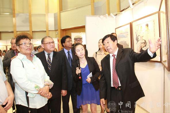 富有亲和力的交流 走进东非—当代中国画精品展