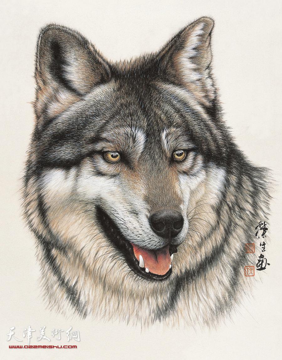 [转载]国画工笔画{狮,狼,虎,豹等动物画}_中国经典之