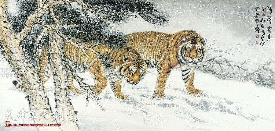 [转载]国画工笔画{狮,狼,虎,豹等动物画}