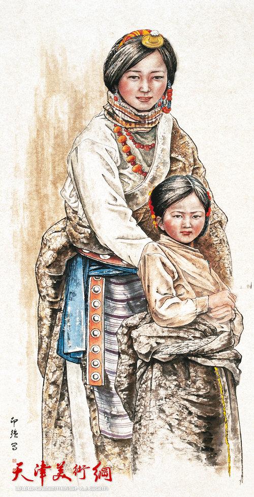 王印强作品:《卓玛姐妹》