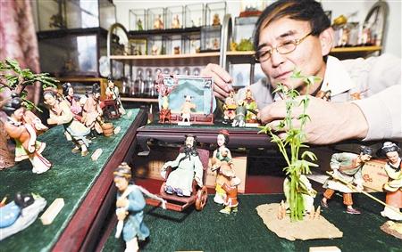 天津面塑艺术家杨树祥塑出二十四孝故事