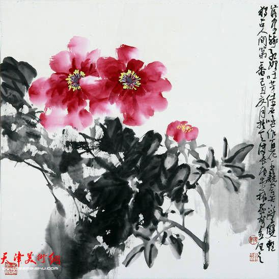 著名画家史振岭花鸟画:《人间第一香》