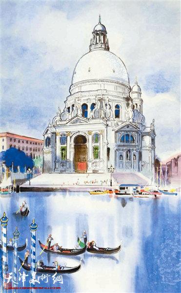 卢德辉作品:《运河上飘荡着<桑塔露琪亚>的歌声》
