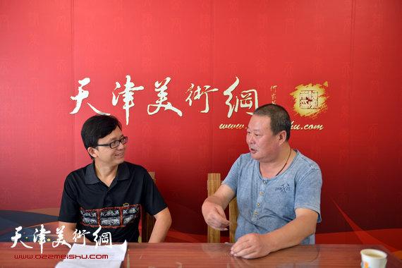 著名书法家马孟杰接受天津美术网专访