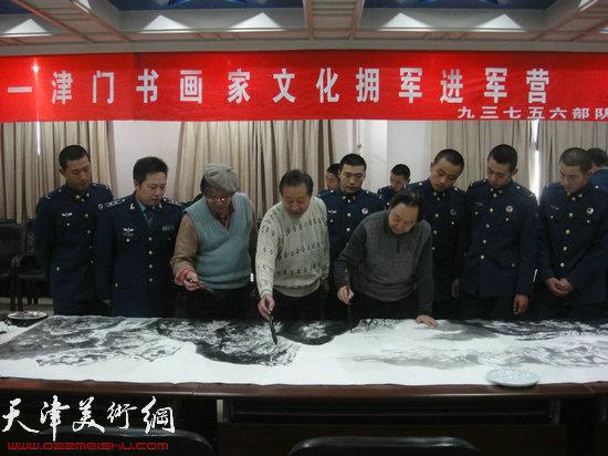 著名山水画家王山岭、刘家成、向忠林创作巨作