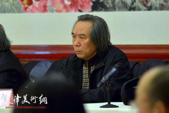 全国美展中国画展区作品征选暨创作动员部署会1月7日召开,图为霍春阳。