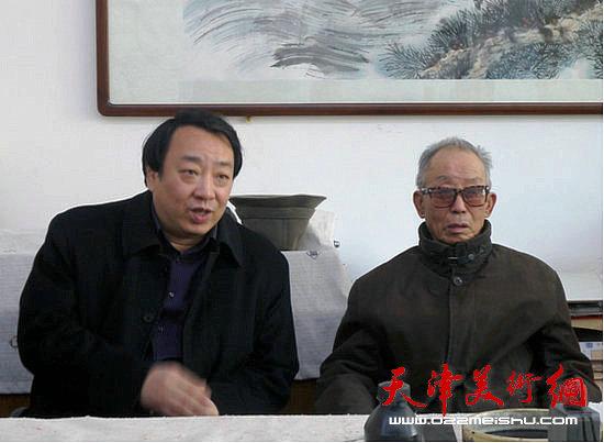 天津师范大学津沽学院与瑞江书画院举办书画交流活动